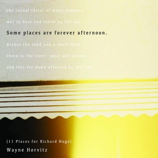 Cover Some Places Are Forever Afternoon (11 Places for Richard Hugo)