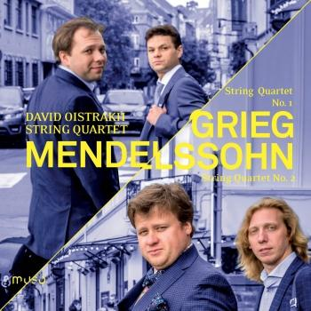Cover Grieg: String Quartet No. 1 - Mendelssohn: String Quartet No. 2