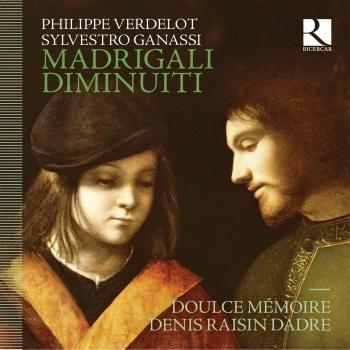 Cover Verdelot: Madrigali diminuiti (Diminutions inspirees de Sylvestro Ganassi)