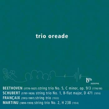 Cover Trio Oreade: Debut (Beethoven, Schubert, Françaix, Martinů)