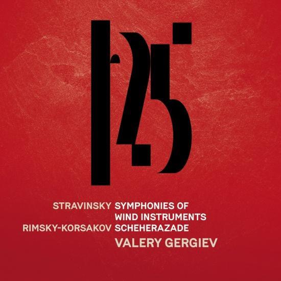 Cover Stravinsky: Symphonies d'instruments à vent, Rimsky-Korsakov: Scheherazade, Op. 35 (Live)