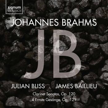 Cover Johannes Brahms: Clarinet Sonatas Op. 120, 4 Ernste Gesänge, Op. 121