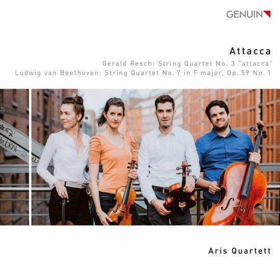Cover Gerald Resch: String Quartet No. 3 - Beethoven: String Quartet No. 7, Op. 59 No. 1