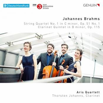 Cover Brahms: String Quartet No. 1 in C Minor, Op. 51 No. 1 & Clarinet Quintet in B Minor, Op. 115