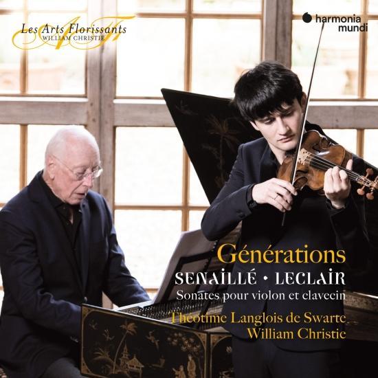 Cover 'Générations' Senaillé & Leclair: Sonatas for Violin and Harpsichord