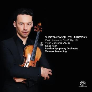 Cover Shostakovich: Violin Concerto No. 2, Op. 129 & Tchaikovsky: Violin Concerto, Op. 35