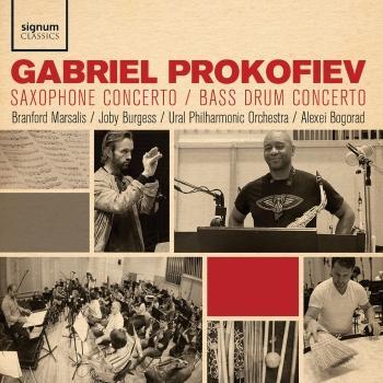 Cover Gabriel Prokofiev: Saxophone Concerto, Bass Drum Concerto