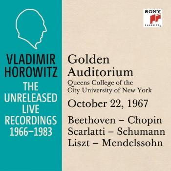 Cover Vladimir Horowitz in Recital at Queens College, New York City, October 22, 1967