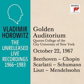 Cover Vladimir Horowitz in Recital at Queens College, New York City, October 22, 1967