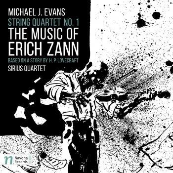 Cover Evans: String Quartet No. 1 The Music of Erich Zann