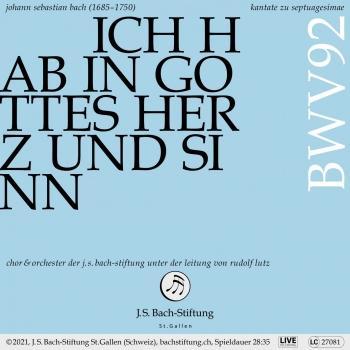 Cover Bachkantate, BWV 92 - Ich hab in Gottes Herz und Sinn (Live)