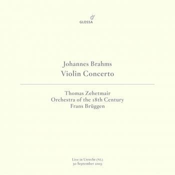Cover Brahms: Violin Concerto in D Major, Op. 77 (Live in Utrecht, 9/30/2003)