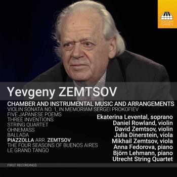 Cover Yevgeny Zemtsov: Chamber & Instrumental Music & Arrangements