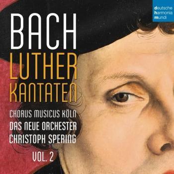 Cover Bach: Lutherkantaten, Vol. 2 (BVW 121, 125, 14)