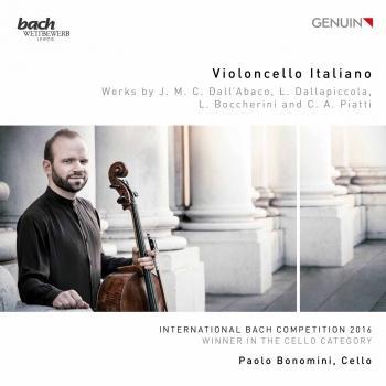 Cover Violoncello Italiano (Werke von J. M. Dall'Abaco, L. Dallapiccola, L. Boccherini und C. A. Piatti)