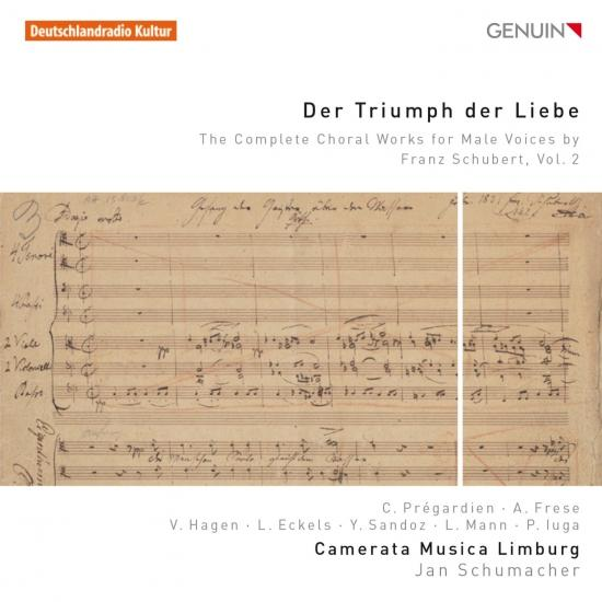 Cover Schubert: Der Triumph der Liebe – The Complete Choral Works for Male Voices, Vol. 2