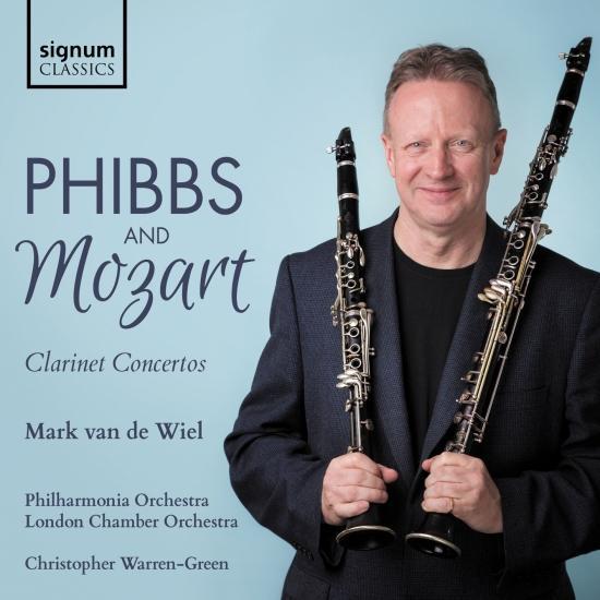 Cover Phibbs & Mozart: Clarinet Concertos