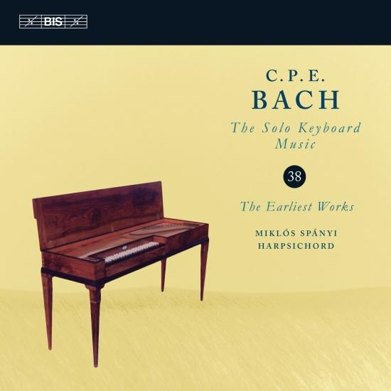 Cover C.P.E. Bach: Solo Keyboard Music, Vol. 38