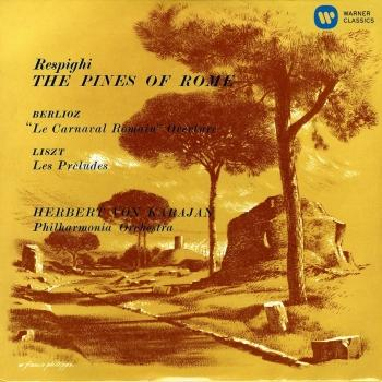 Cover Karajan conducts Respighi, Berlioz & Liszt
