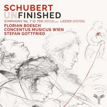 Cover Schubert: Symphony No. 7 in B-Flat Major, D. 759 'Unfinished', Lieder (Orchestrated by Webern, Brahms)
