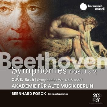 Cover Beethoven: Symphonies Nos. 1 & 2 - C.P.E. Bach: Symphonies, Wq 175 & 183/17