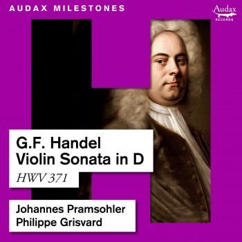 Cover Handel: Violin Sonata in D, HWV 371