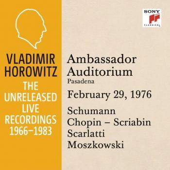 Cover Vladimir Horowitz in Recital at Ambassador College, Pasadena, February 29, 1976