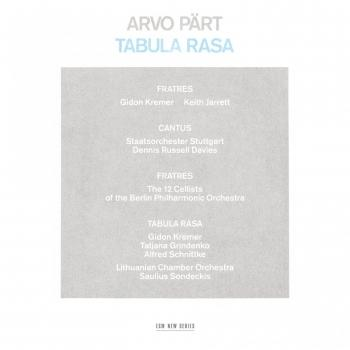 Cover Arvo Pärt: Tabula Rasa (Remastered 2015)