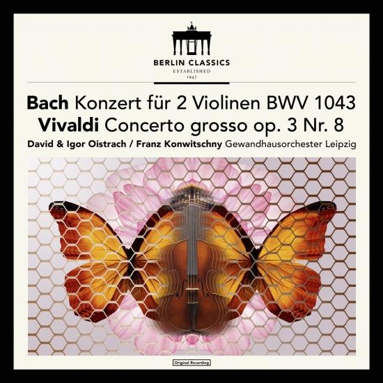 Cover Bach: Concerto for 2 Violins in D Minor, BWV 1043 - Vivaldi: Concerto for 2 Violins in A Minor, RV 522