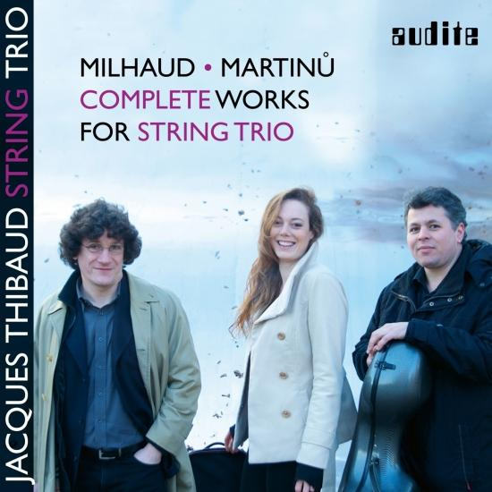 Cover Milhaud & Martinů: Complete Works for String Trio