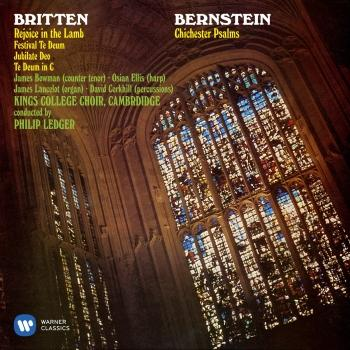 Cover Bernstein: Chichester Psalms - Britten: Rejoice the Lamb & Festival Te Deum (Remastered)