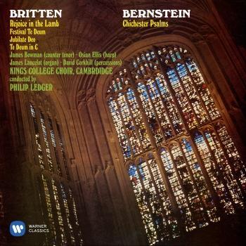 Cover Bernstein: Chichester Psalms - Britten: Rejoice the Lamb & Festival Te Deum (Remastered)