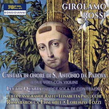 Cover Rossi: Cantata in onore di S. Antonio da Padova & Lectio quarta