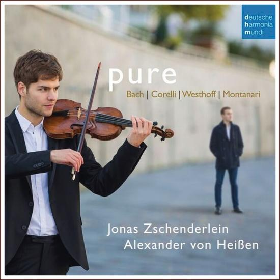 Cover Pure - Works For Violin and Harpsichord By Bach, Corelli, Von Westhoff & Montanari