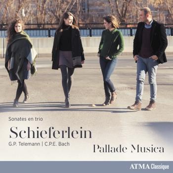 Cover Schieferlein, Telemann & C.P.E. Bach: Sonates en trio