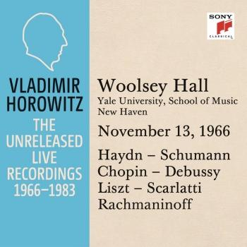 Cover Vladimir Horowitz in Recital at Yale University, New Haven November 13, 1966