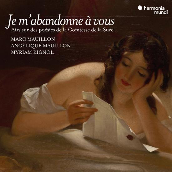 Cover 'Je m'abandonne à vous' Songs on poems by Henriette de Coligny, Comtesse de La Suze