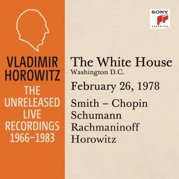 Cover Vladimir Horowitz in Recital at the White House, Washington D.C., February 26, 1978