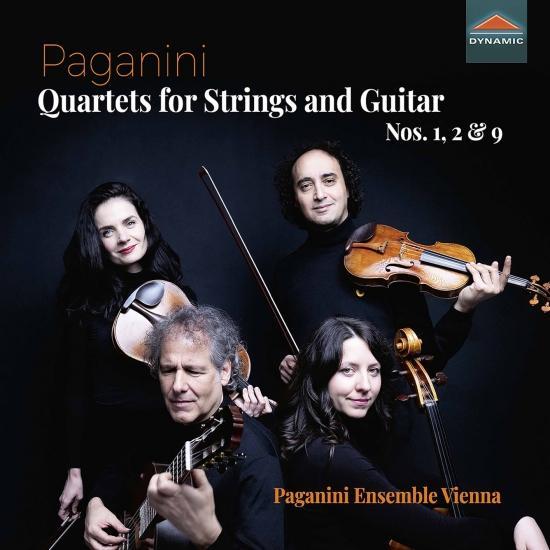 Cover Paganini: Quartets for Strings & Guitar Nos. 1, 2 & 9