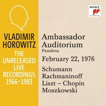 Cover Vladimir Horowitz in Recital at Ambassador College, Pasadena, February 22, 1976