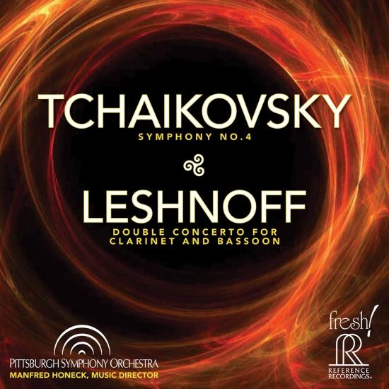 Cover Tchaikovsky: Symphony No. 4 - Johnathan Leshnoff: Double Concerto for Clarinet & Bassoon (Live)