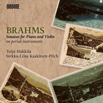 Cover Brahms: Sonatas for Piano & Violin on Period Instruments
