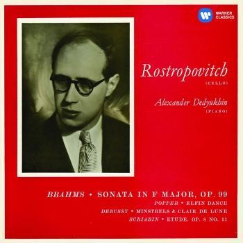 Cover Brahms: Cello Sonata No. 2 & Works by Popper, Debussy & Scriabin (Mono - Remastered)