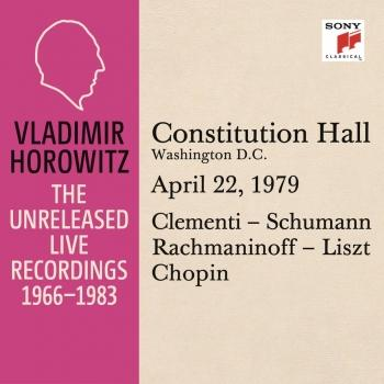 Cover Vladimir Horowitz in Recital at Constitution Hall, Washington D. C., April 22, 1979