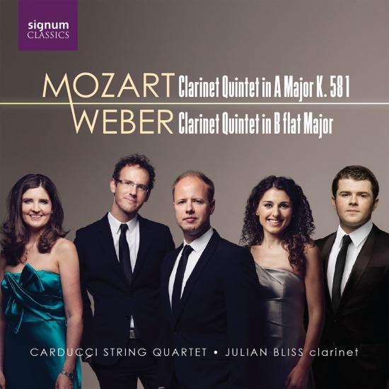 Cover Mozart: Clarinet Quintet in Major, K. 581 - Weber: Clarinet Quintet in B-Flat Major