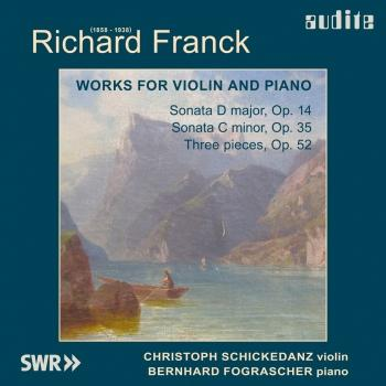 Cover Richard Franck: Violin Sonatas Nos 1 & 2, Three Pieces, Op. 52