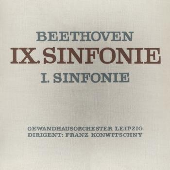 Cover Beethoven: Sinfonie No. 9 & 1 (Remastered)