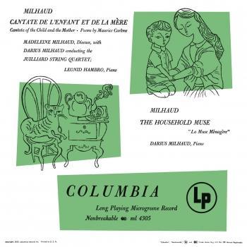 Cover Milhaud: Cantate de l'enfant et de la mère & La muse ménagère (Remastered)