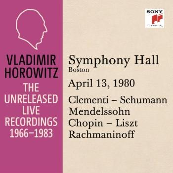Cover Vladimir Horowitz in Recital at Symphony Hall, Boston, April 13, 1980