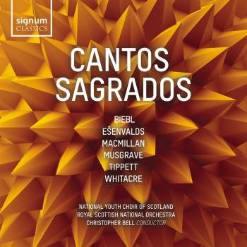 Cover Cantos Sagrados: Ešenvalds, MacMillan, Musgrave, Tippett